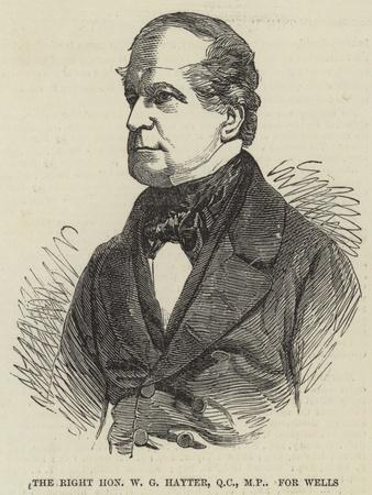 The Right Honourable W G Hayter for Wells