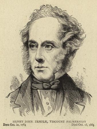 Henry John Temple, Viscount Palmerston