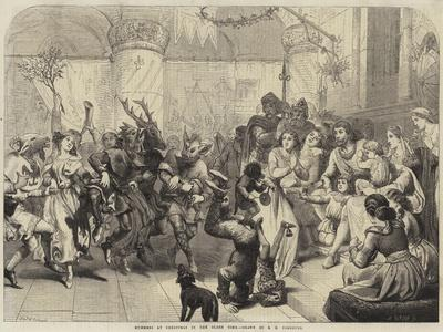 Mummers at Christmas in the Olden Time