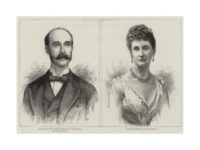 The Marquis and Marchioness of Lansdowne