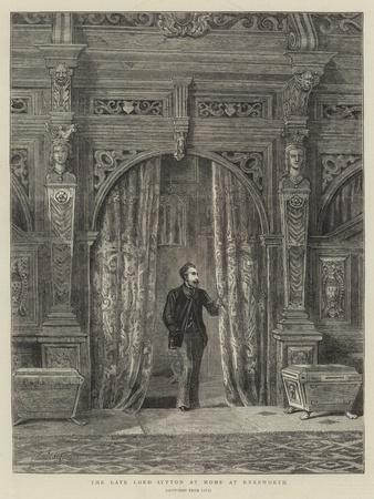 The Late Lord Lytton at Home at Knebworth