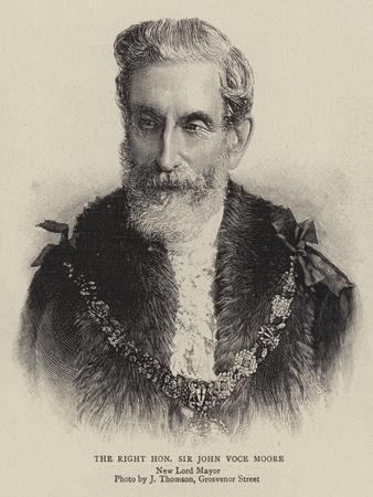 The Right Honourable Sir John Voce Moore