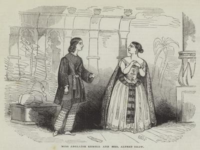 Miss Adelaide Kemble and Mrs Alfred Shaw