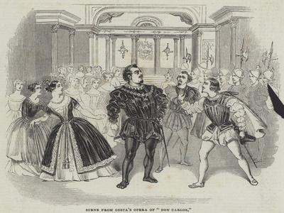 Scene from Costa's Opera of Don Carlos