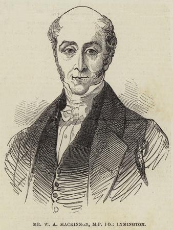 Mr W a Mackinnon, Mp for Lymington