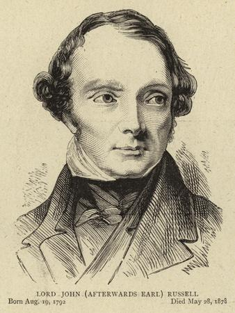 Lord John (Afterwards Earl) Russell