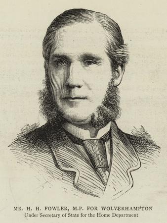 Mr H H Fowler, Mp for Wolverhampton