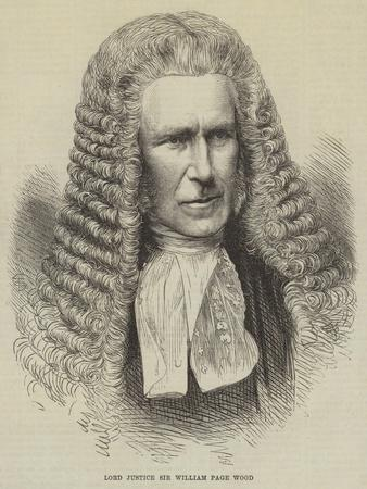 Lord Justice Sir William Page Wood