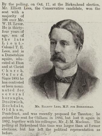 Mr Elliott Lees, Mp for Birkenhead