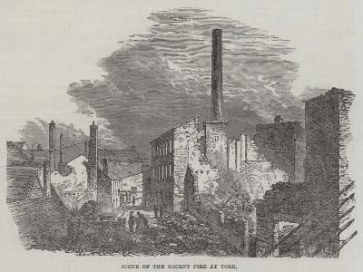 Scene of the Recent Fire at York