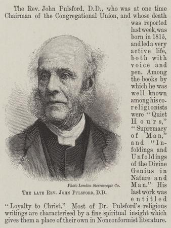 The Late Reverend John Pulsford