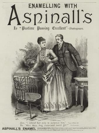 Advertisement, Aspinall's Enamel