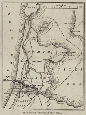 Plan of the Amsterdam Ship Canal