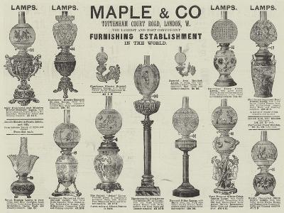 Advertisement, Maple and Company