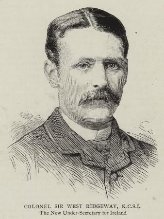 Colonel Sir West Ridgeway, Kcsi