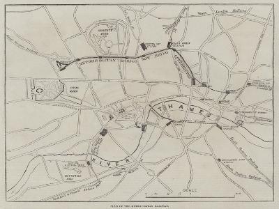 Plan of the Metropolitan Railway