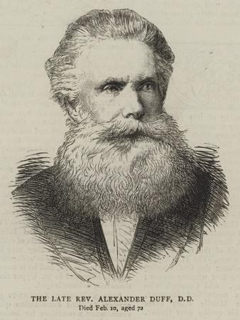 The Late Reverend Alexander Duff
