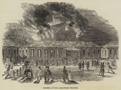 Burning of the Carlsruhe Theatre