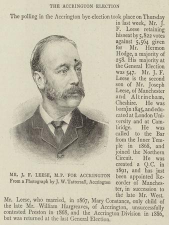 Mr J F Leese, Mp for Accrington