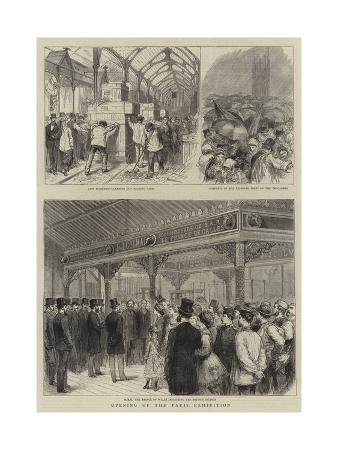 Opening of the Paris Exhibition