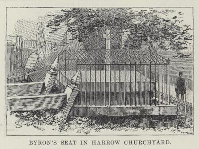 Byron's Seat in Harrow Churchyard