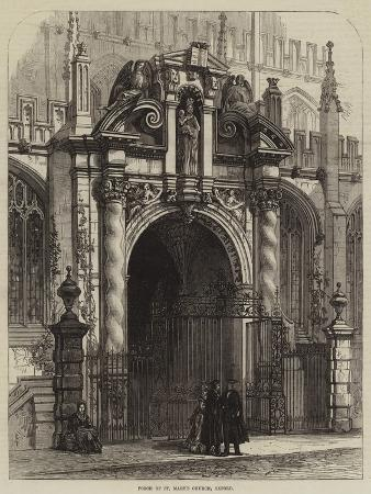 Porch of St Mary's Church, Oxford