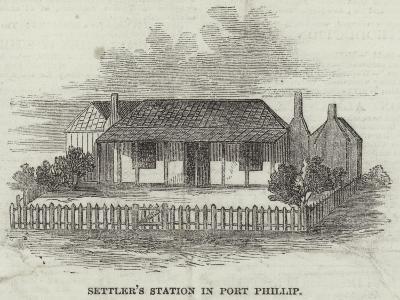 Settler's Station in Port Phillip