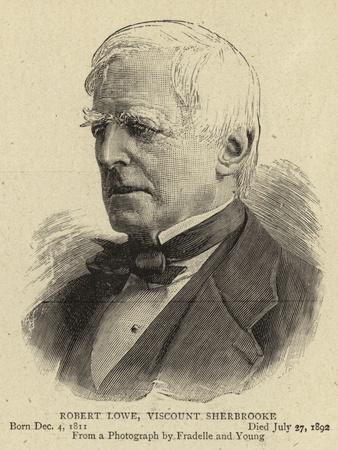 Robert Lowe, Viscount Sherbrooke