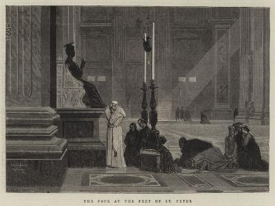 The Pope at the Feet of St Peter
