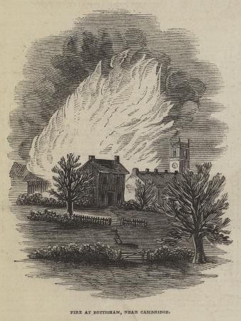 Fire at Bottisham, Near Cambridge