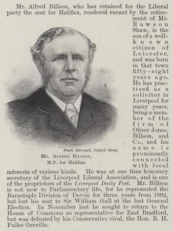 Mr Alfred Billson, Mp for Halifax