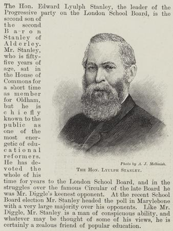The Honourable Lyulph Stanley