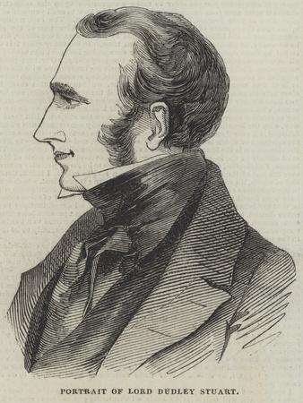 Portrait of Lord Dudley Stuart