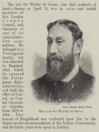 The Late Sir Walter De Souza