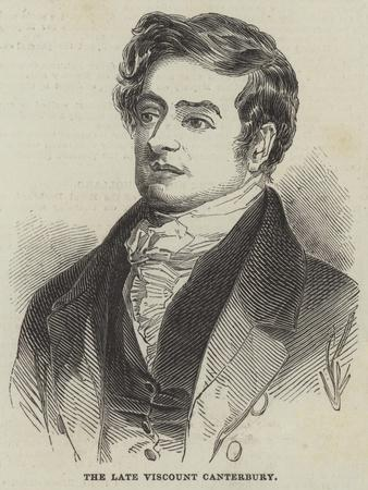 The Late Viscount Canterbury