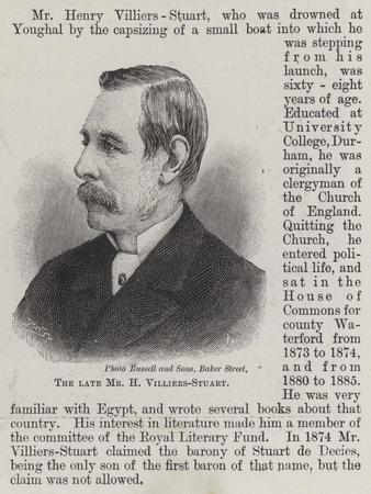 The Late Mr H Villiers-Stuart