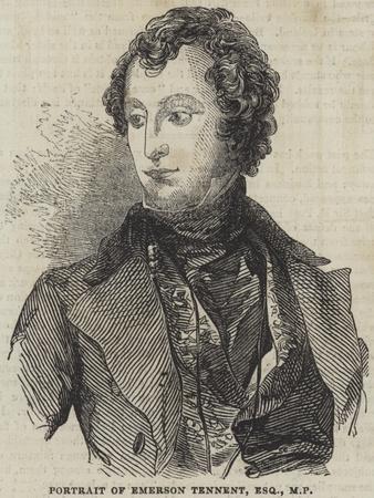 Portrait of Emerson Tennent