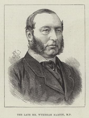 The Late Mr Wykeham Martin