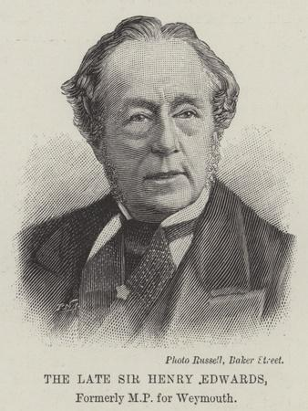 The Late Sir Henry Edwards