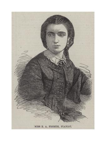 Miss E a Freeth, Pianist