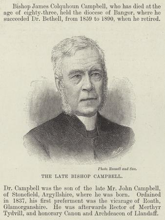 The Late Bishop Campbell