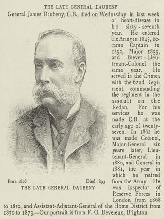 The Late General Daubeny