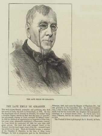 The Late Emile De Girardin