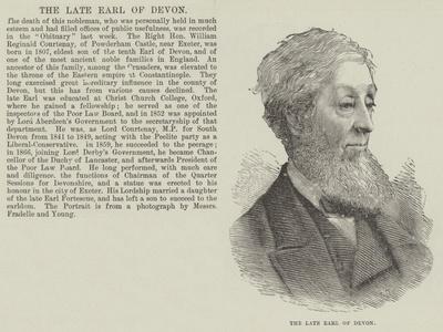 The Late Earl of Devon