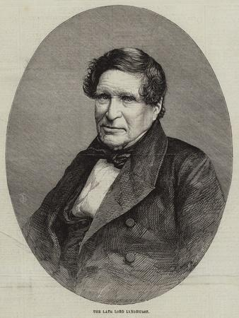 The Late Lord Lyndhurst