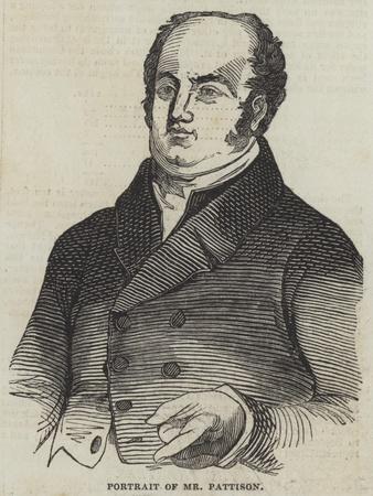 Portrait of Mr Pattison