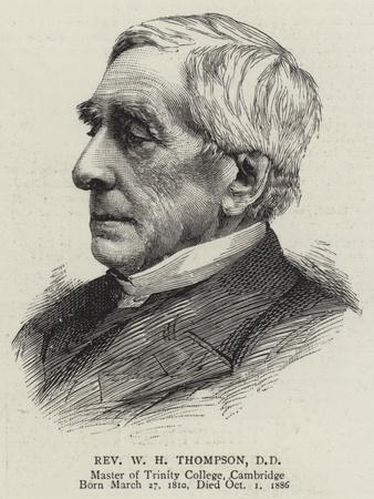 Reverend W H Thompson