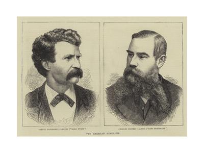 Two American Humorists