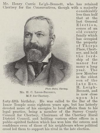 Mr H C Leigh-Bennett