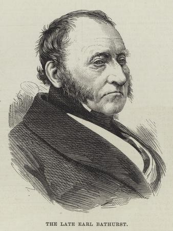 The Late Earl Bathurst
